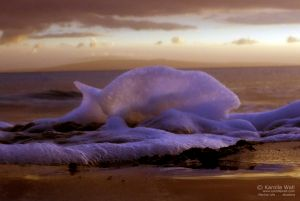 Sunset foam Sugar Beach, Maalea